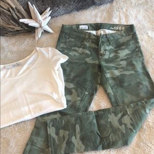 GAP Always Skinny Camouflage Jeans